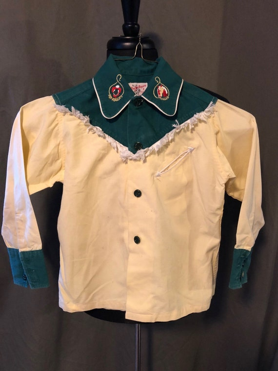 Vintage Roy Rogers & Trigger Youth Western Shirt,