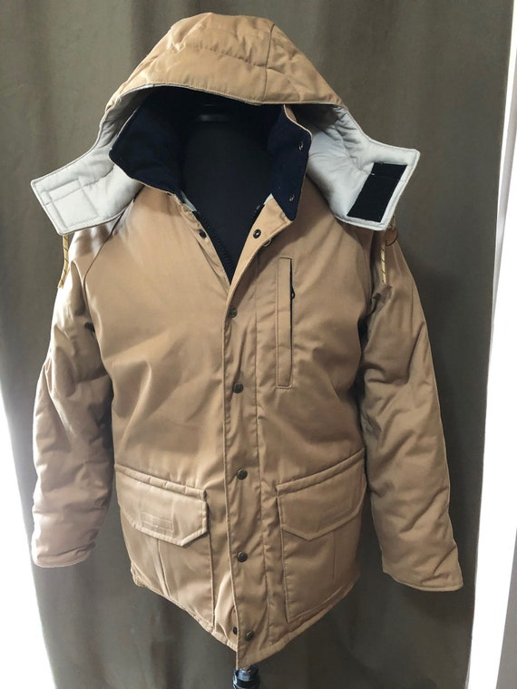 Vintage 1980s Columbia Thinsulate Beige Hooded Par