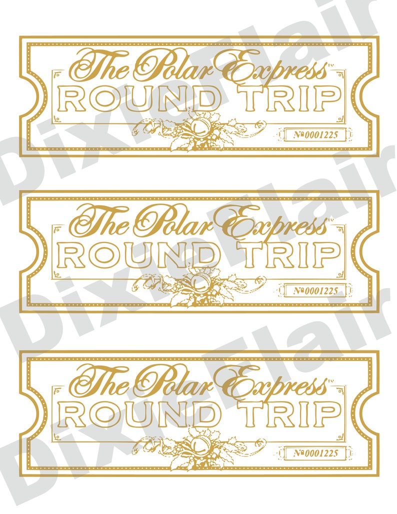 picture about Polar Express Printable Tickets identified as Polar Specific Printable Tickets