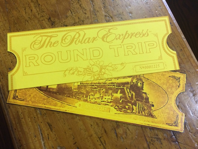 graphic relating to Printable Polar Express Ticket titled Polar Convey Printable Tickets