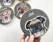 Gift for Pet Lovers. Personalized Embroidered Pet Portrait. Custom Pet Memorial.
