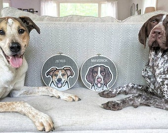 TWO LARGE Custom Pet Portraits. Custom Dog Portrait. Gift for Pet Lovers. Pet Memorial