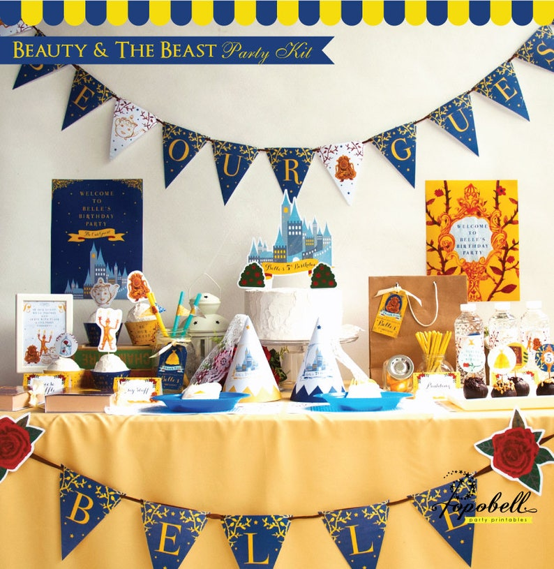 Beauty and The Beast Party Kit. Complete Beauty and the beast image 0