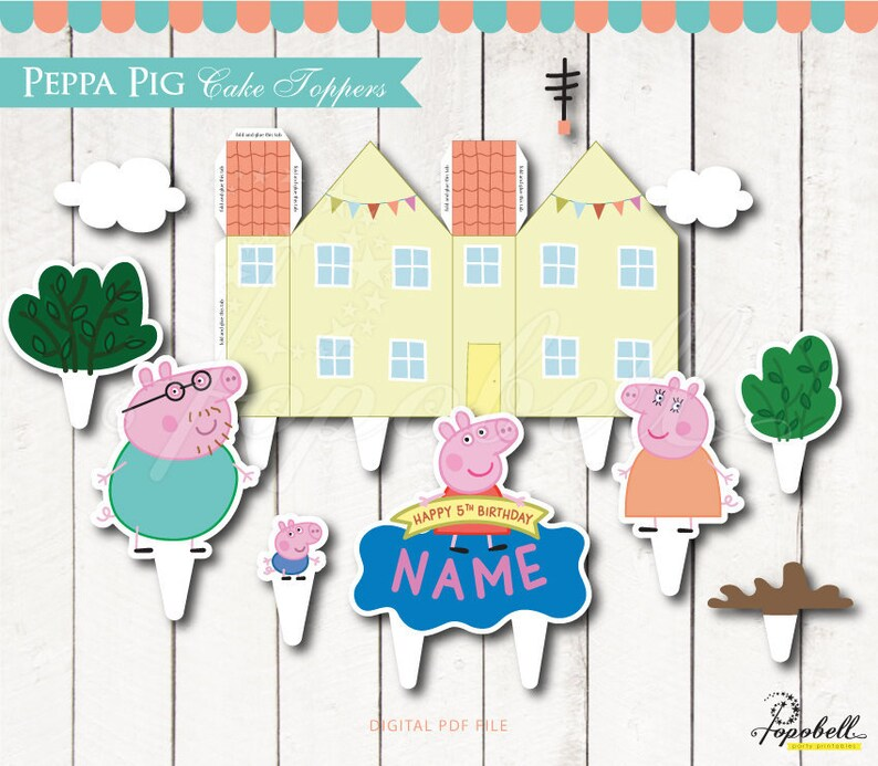 photograph about Printable Peppa Pig identified as Peppa Pig Cake Topper Printable. Peppa Pig Birthday. Peppa Pig Social gathering. Peppa Pig Room. Do it yourself Printable Peppa Pig Centerpiece. Electronic