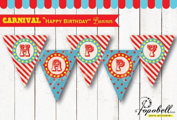 carnival happy birthday banners for circus birthday diy circus