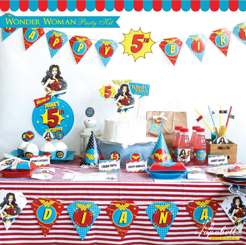 Wonder Woman Party Kit. Complete Wonder Woman Party Printable. image 0