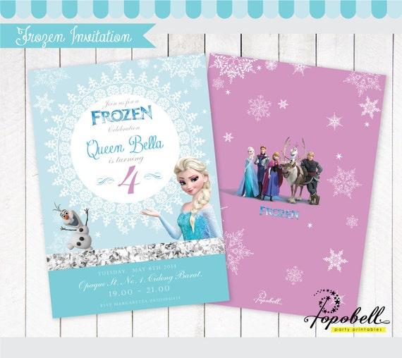 Frozen Invitation Printable Olafs Birthday Party Double