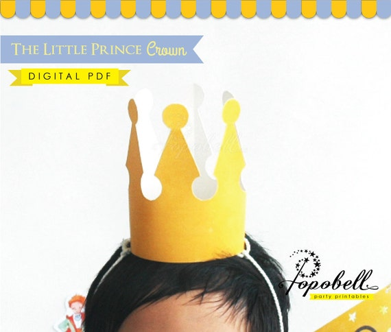 picture about King Crown Printable identify Crown Printable for Prince Birthday Social gathering. Immediate Down load