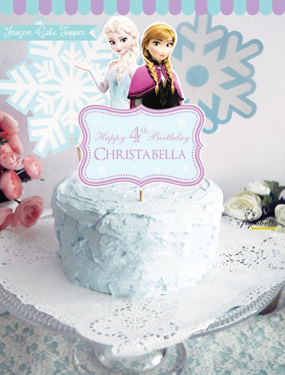 Wondrous Frozen Cake Topper For Frozen Birthday Party Personalized Etsy Funny Birthday Cards Online Elaedamsfinfo