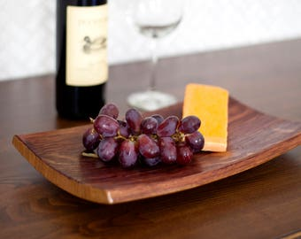 Appetizer Tray With Wine Glass Holder Wine Barrel Stave Etsy