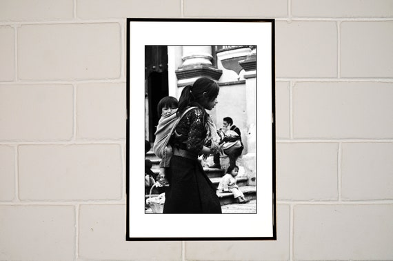 Xilitla Mexico Child Dreaming In A Truck Window Printable Digital Instant Download Black and White Mexican Street Photography