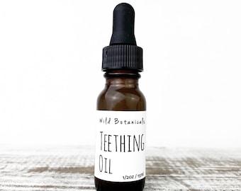 Teething Oil, 1/2oz, All Natural, Organic Ingredients