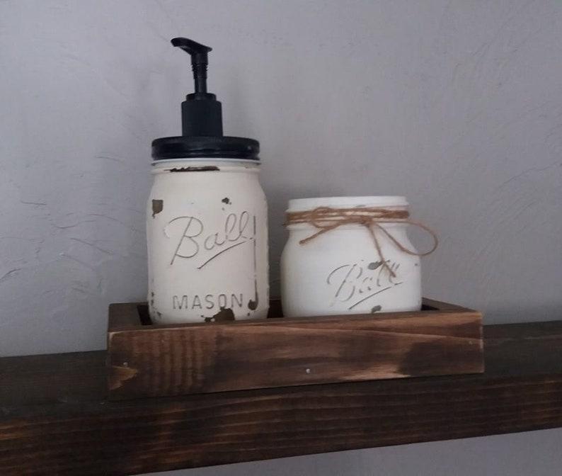 mason jar soap pump set