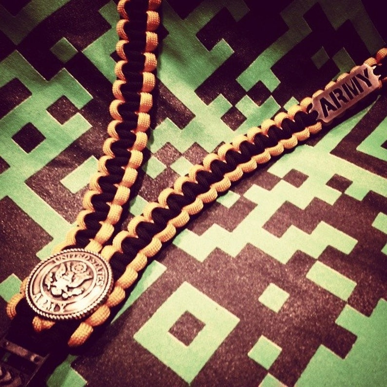 Armed Forces Paracord ID Lanyard image 0