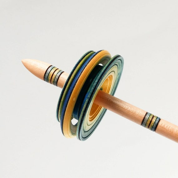 Made to Order Peruvian Chac-Chac Spindle for Hand Spinning ~ Low Whorl Spindle in Silver Maple and Cottonwood