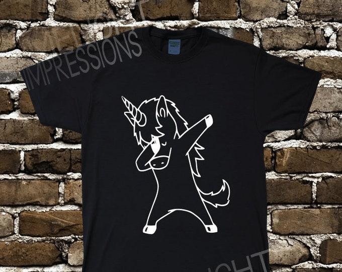 Dabby the Dabbing Unicorn- Men's T-Shirt (#73)