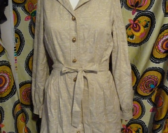 Reserved Dana fabulous jane andre of california circa 1960 button up shirt dress size medium small