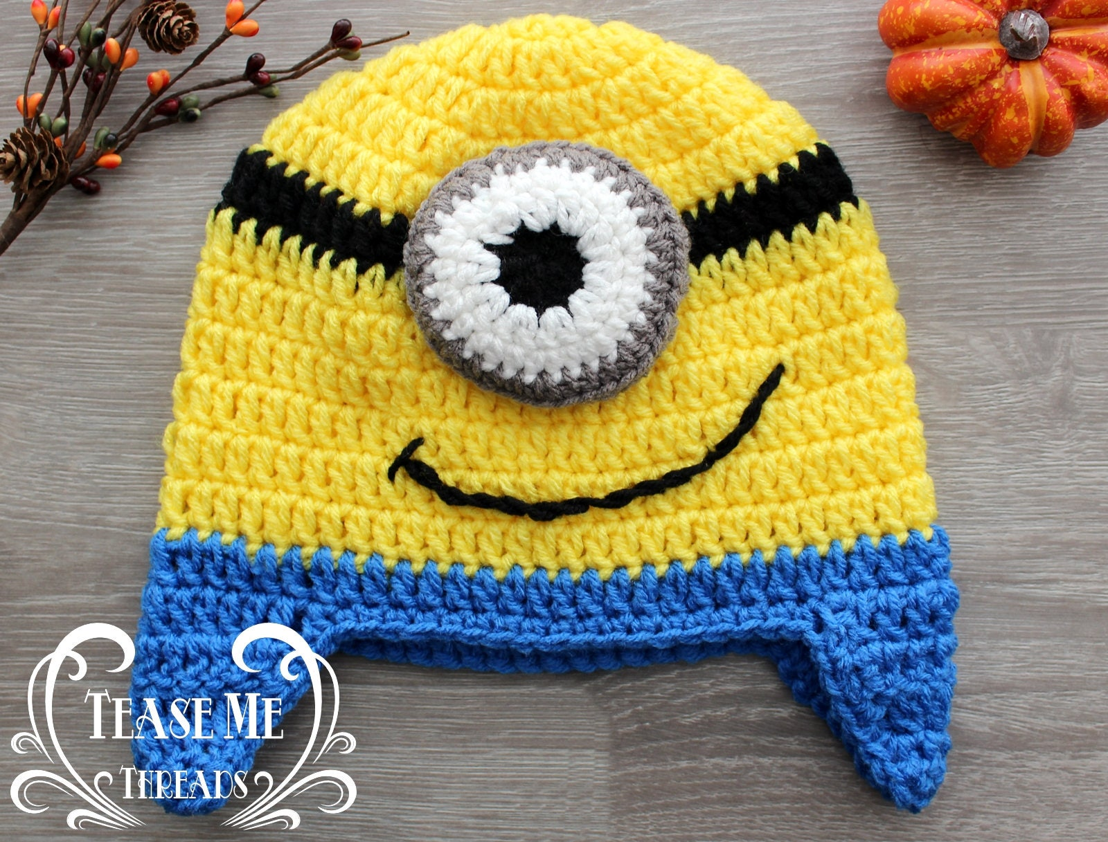 Minions Crochet Hat Despicable Me Halloween Costume Hat Etsy
