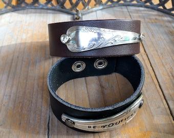 handstamped cuff bracelet