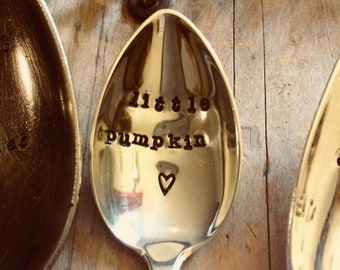 Hand stamped tea spoon