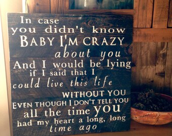 Brett young lyrics etsy in case you didnt know brett young sign rustic wedding sign country song sign stopboris Gallery