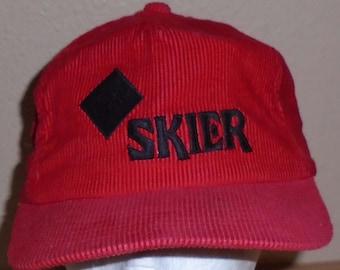vintage 1980s Black Diamond snow ski cord zip back hat 72ed0be7c37f