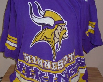 vintage 1995 Minnesota Vikings football purple XXL t shirt 800b9a895