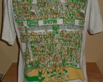 8e2e655398e vintage 1990s Michigan State Spartans t shirt Large