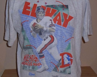vintage 1991 John Elway Mile High Miracle Man Denver broncos large t shirt b3a75ff5d