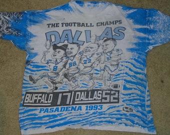 Vintage 1993 Dallas Cowboys Super Bowl overprint t shirt XXXL - BIG 411fc77ac