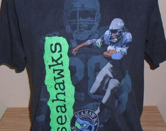 vintage 1980s Seattle Seahawks Curt Warner t shirt XL 80d0d42f9