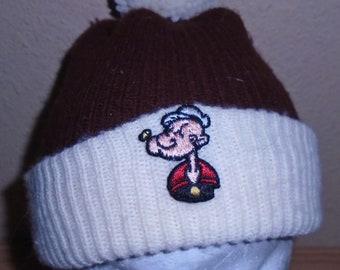 Vintage 1980s Popeye ski beanie hat f65eaaa30d51