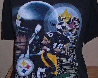 FREE Shipping vintage 1990s Kordell Stewart Pittsburgh Steelers t shirt  Large 4fefebff3