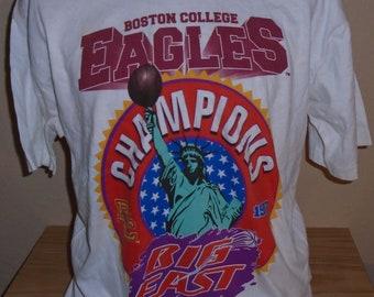 5105bd5c6db6 vintage 1997 Boston College Eagles Big East Champions t shirt XLarge Free  SHIPPING