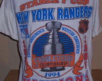 Vintage 1994 New York Rangers stanley cup hockey t shirt L d72336a29