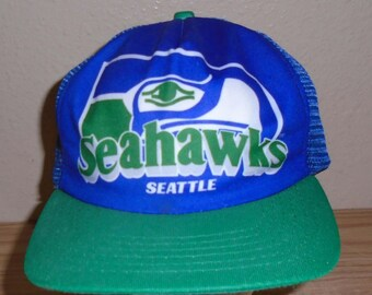 Vintage 1980s Seattle Seahawks football snapback hat c6240ecfb