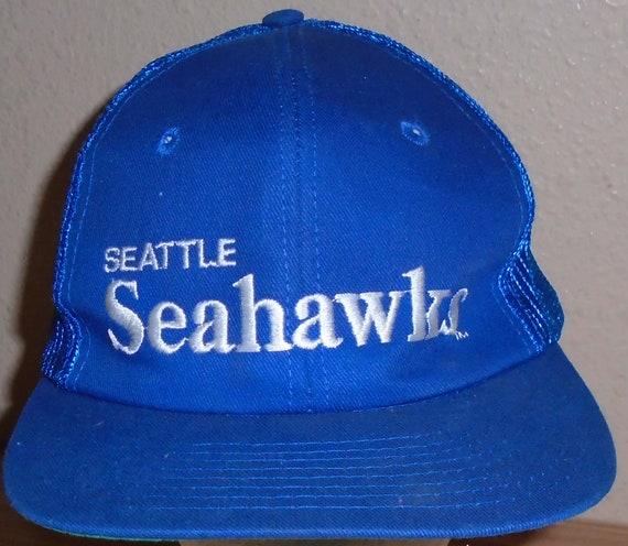Vintage 1990s Seattle Seahawks blue snapback truck