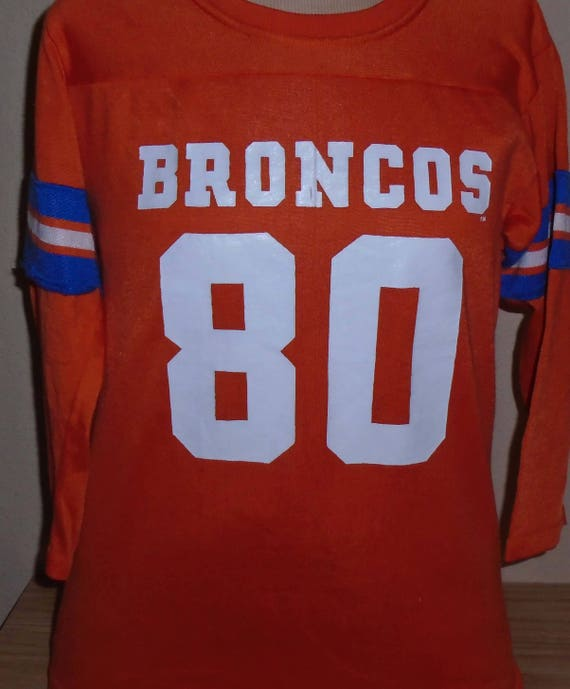 newest a1df7 79ebf vintage 1980s Denver Broncos Rawlings football jersey t shirt youth Large