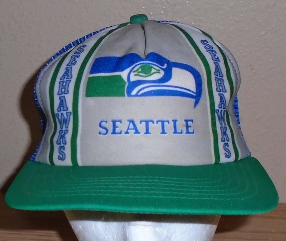 Vintage 1980s Seattle Seahawks football green and