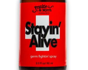 Stayin' Alive   Germ-Fightin' Spray   Thieves Room Spray w/ Cinnamon, Clove, Eucalyptus, Rosemary and Lemon Essential Oil Spray