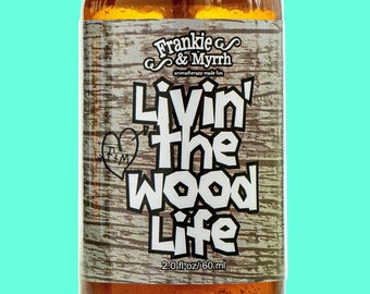 Livin' The Wood Life   Patchouli, Vanilla, Cedar Natural Perfume/Aromatherapy Spray for Stress, Relaxation and Anxiety