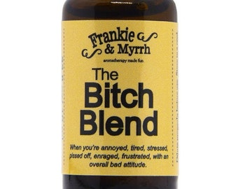 The Bitch Blend   PMS, Menopause, Irritability Essential Oil Blend with Lavender, Bergamot, Clary Sage, Rose Geranium, and Frankincense