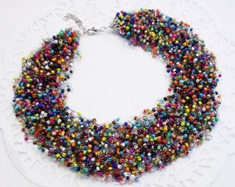 Statement necklace women colorful jewelry bib necklace rainbow necklace funny jewelry wholesale necklace rainbow jewellery funny necklace