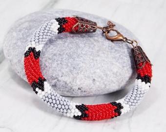 Snake jewelry witchy jewelry snake bracelet serpent jewelry trendy bracelet egyptian jewelry pagan bracelet animal jewelry red bracelet