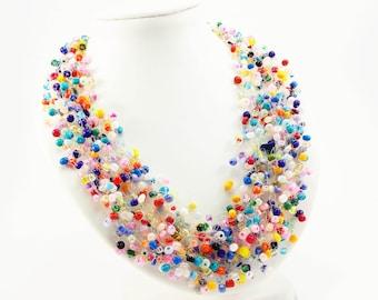 319f36374 Gypsy jewelry fun jewelry beaded necklace Rainbow jewelry Fall jewelry  Bohemian Jewelry hippie jewelry ombre jewelry spring jewelry gift mom