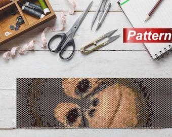 Jewelry craft monkey peyote delica monkey pattern DIY peyote design animal peyote pattern peyote beading delica cuff pattern for jewelry