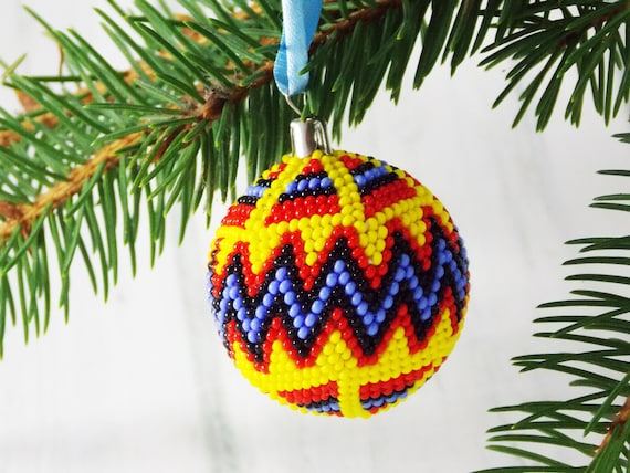image 0 - Yellow Christmas Ornaments African Tribal Ornaments Ethnic Etsy