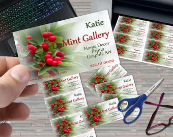 Instant Digital Download, Stock Photo Business Card Design, Garden Theme Design, Gift Card, Red Berries KX16