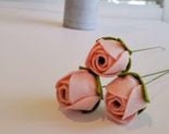 Tiny felt flowers assortment 28 pcs craft felt