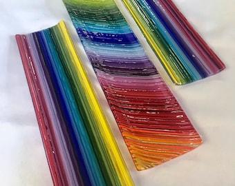 Rainbow Spectrum Fused Glass Tray